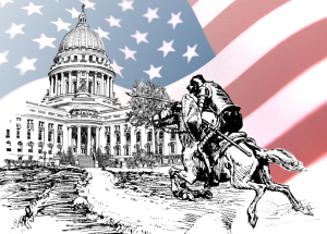 Don_Quixote_Tilting_At_Whitehouse_Flag
