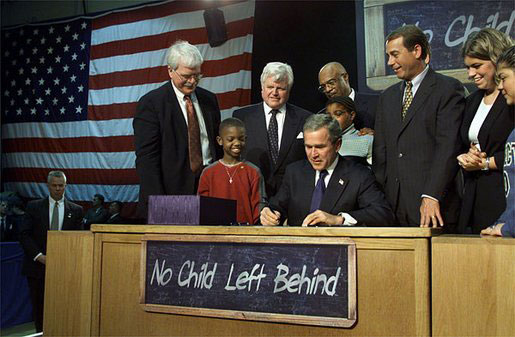 Bipartisan Law coauthored by Democrats and Republicans, approved by congress and signed into law by President Bush