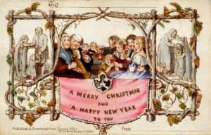 The First Commercial Christmas Card designed by John Horsley for Henry Cole
