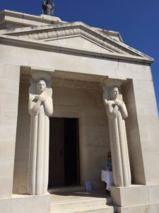 Racic Mausoleum Cavtat entrance