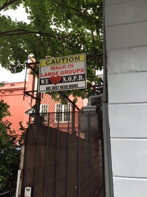 NOLA PD sign