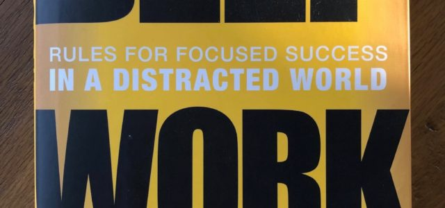 Deep Work If you haven't read Cal Newport's book Deep Work, Rules for Focused Success in a Distracted World, I recommend it. A friend gave it to me for my […]