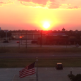 Email0Facebook0Twitter0Reddit0X Linkedin0 Stumbleupon0 A glowing orange ball is on the horizon, the land flat and expansive.  Here's the sunrise from our hotel window along with the United States Flag, and a pickup […]
