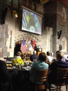Acceptance Speech below the 'Poop Deck' in Washington Hall.