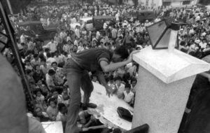 Embassy wall, South Vietnamese allies desperate to escape
