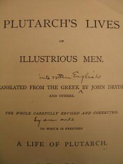 Twain's Plutarch marginalia