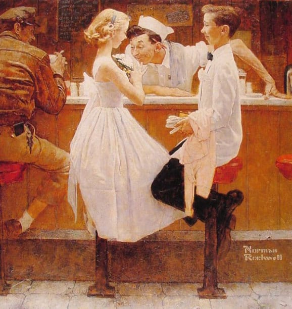 Norman rockwell young love
