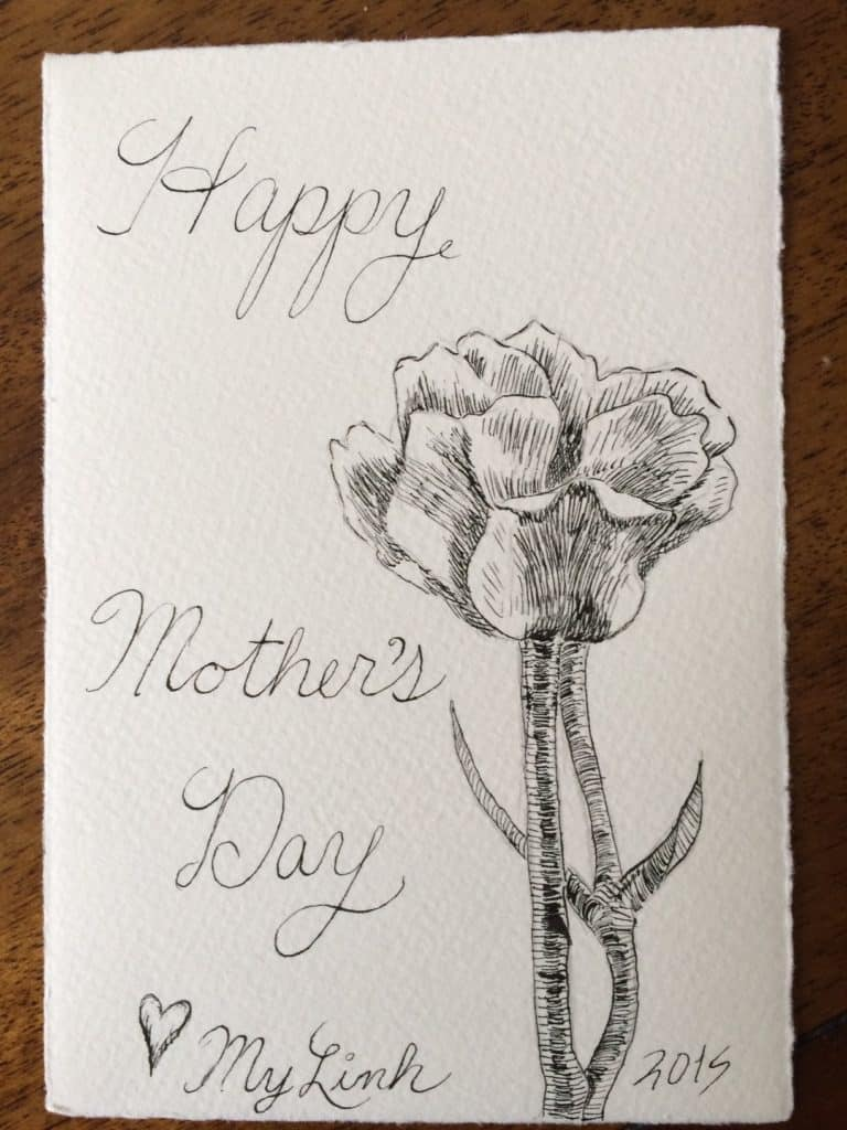 Pen and Ink Mother's Day2