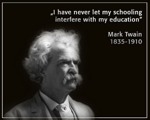 Twain on education