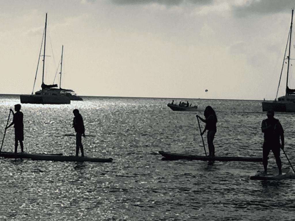 Paddle Boarding on Rodney Bay, St. Lucia